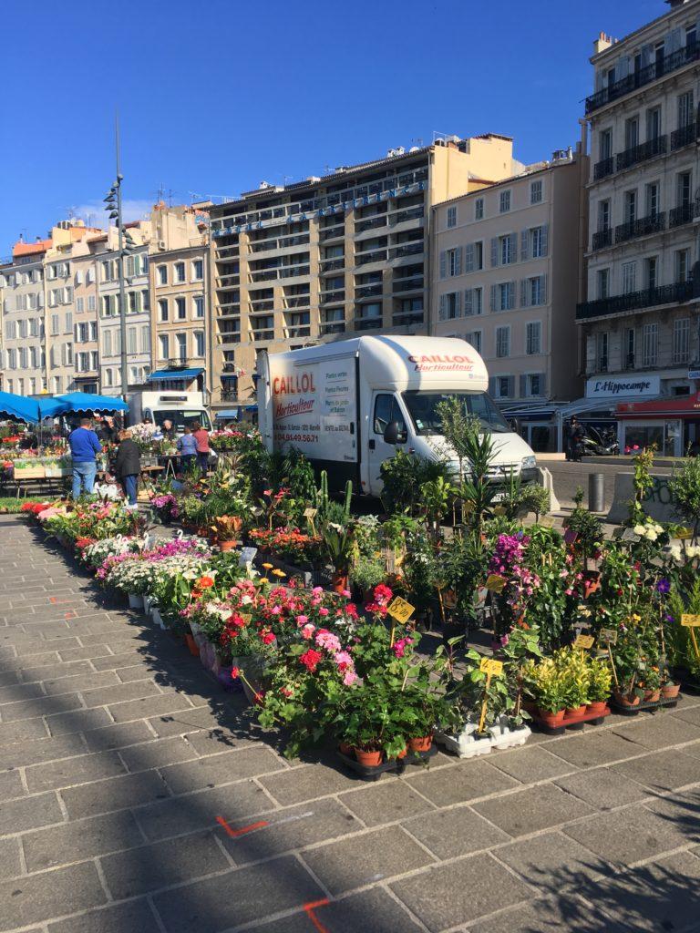 Bloemenkraam in Port Vieux Marseille