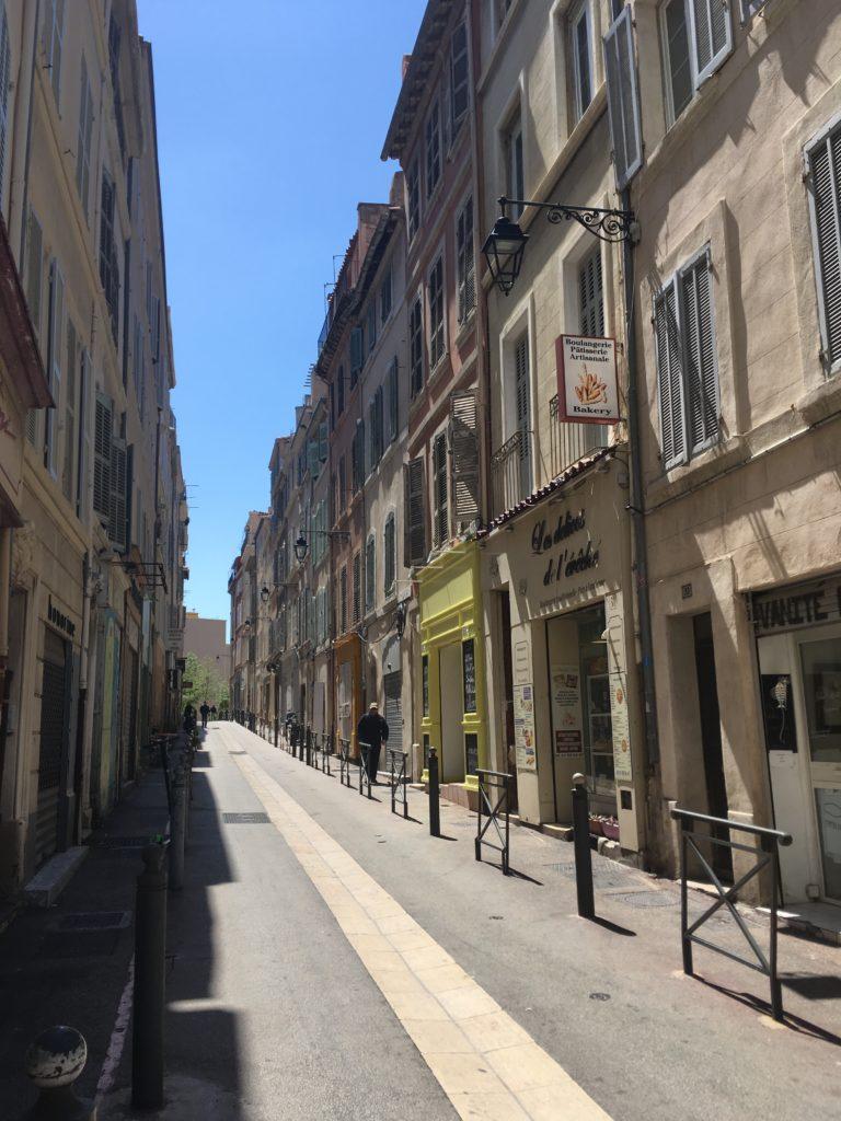 Straat in Le Panier Marseille